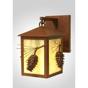 Bargain Ponderosa Pine Small Hanging 1-Light Outdoor Wall Lantern By Steel Partners