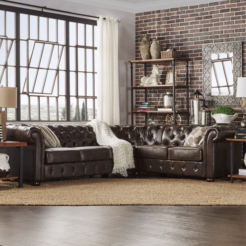 Admirable Three Posts Gowans Sectional Collection Gamerscity Chair Design For Home Gamerscityorg