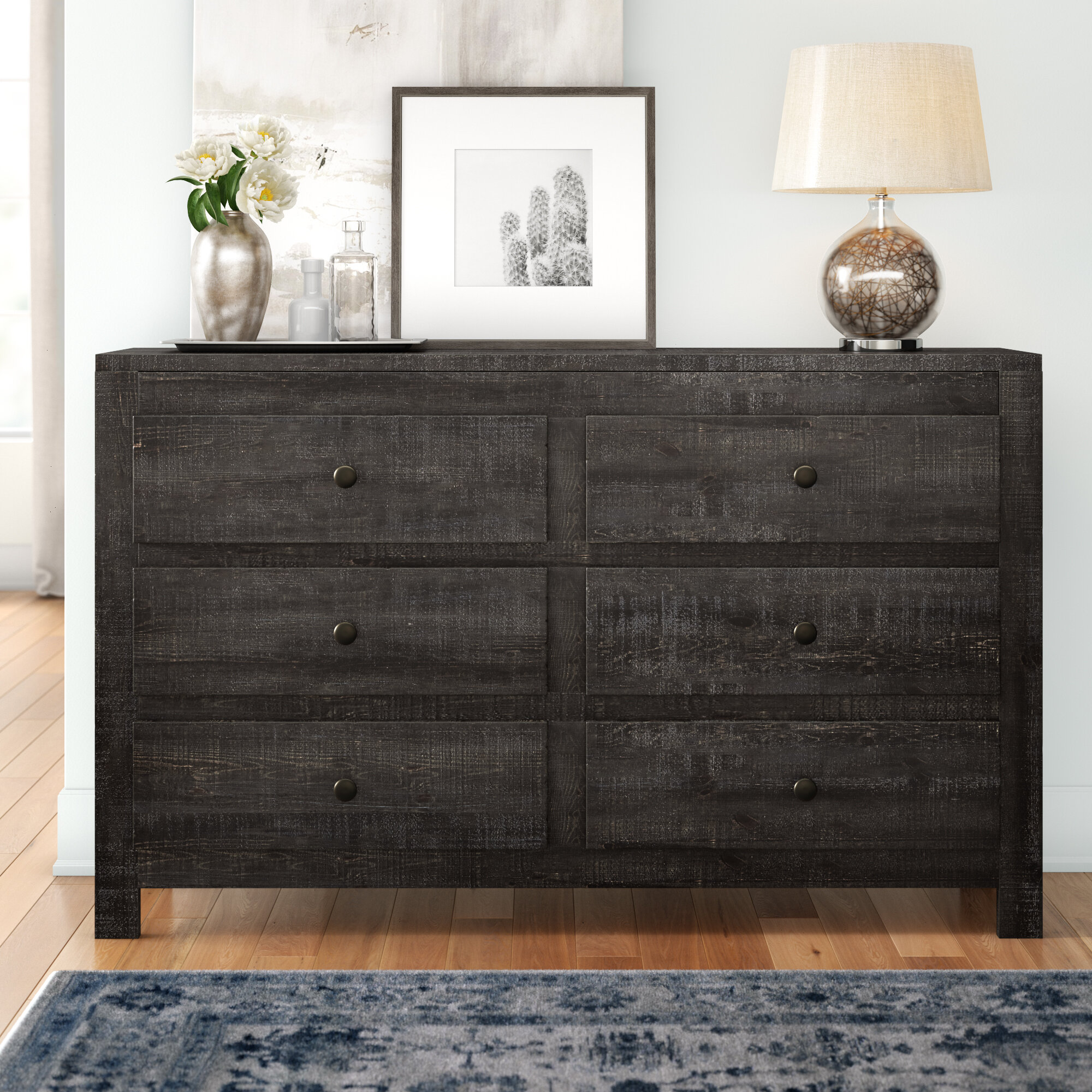 Three Posts Sedgefield 6 Drawer Double Dresser Reviews Wayfair