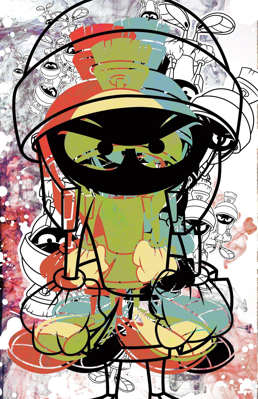 lord mischief marvin martian graphic art on canvas wayfair