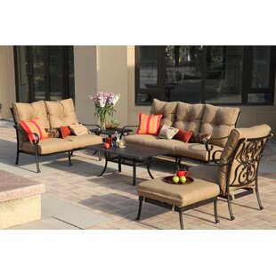 Lanesville 4 Piece Sofa Set with Cushions By Darby Home Co