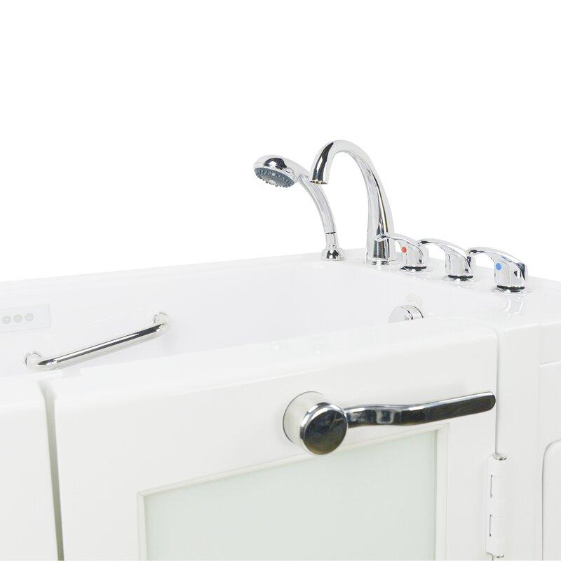 Ella Walk In Bath Lounger Acrylic 59 X 26 75 Walk In Whirlpool And Air Tub Wayfair