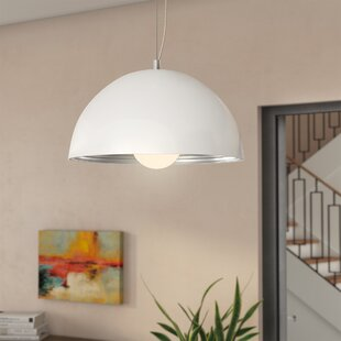 Best Kennedy 1-Light Dome Pendant By Zipcode Design