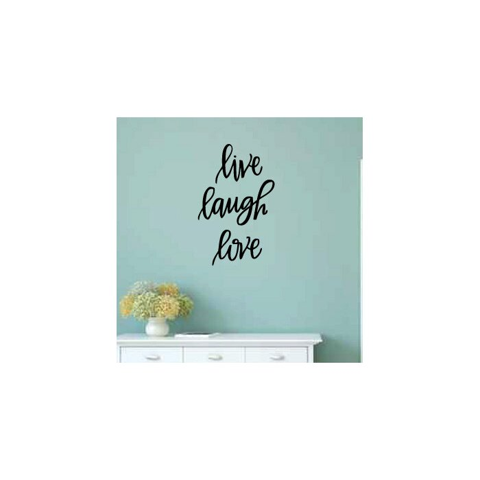 Theus Live Laugh Love Wall Decal