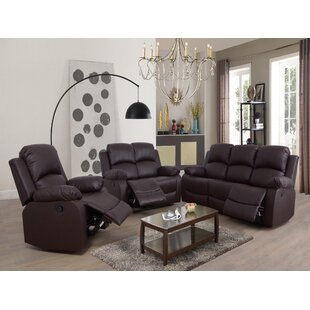 Stig 3 Piece Reclining Living Room Set by Red Barrel Studio®