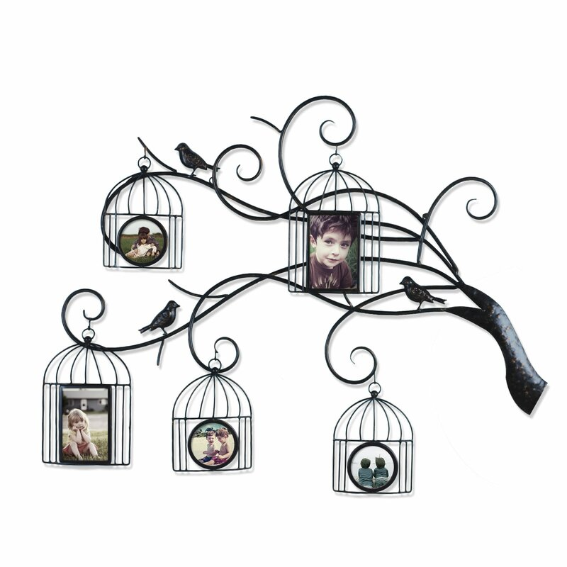 Family Tree Picture Frame Wall Hanging adecotrading collage wall hanging 5 opening family tree scroll