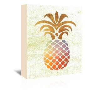 Pineapple 1 Graphic Art on Wrapped Canvas in Brown by East Urban Home
