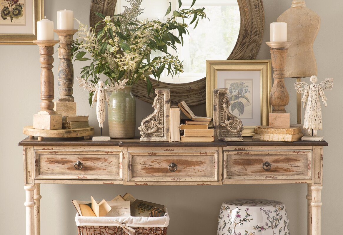 George 3 Drawer Console Table & Reviews | Joss & Main