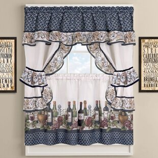High Quality Chateau Wines Cottage Kitchen Curtains