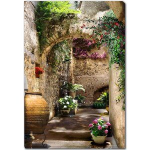 'Aragonese Arches' Framed Photographic Print on Wrapped Canvas by Red Barrel Studio