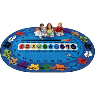 Budget Bilingual Spanish Paint by Numero Kids Area Rug ByCarpets for Kids