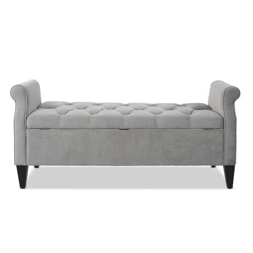 Maconay Upholstered Storage Bench Blue Elephant Upholstery