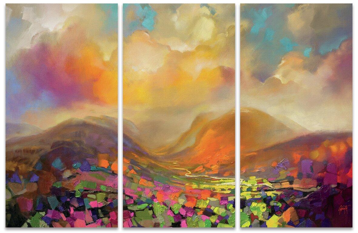Art Group Nevis Range Colour\' Wall art Multi-Piece Image on Canvas ...