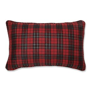 Mikayda Holiday Plaid Lumbar pillow