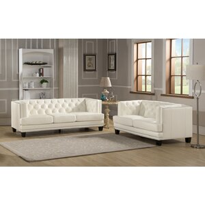 Newport 2 Piece Leather Living Room Set by Amax