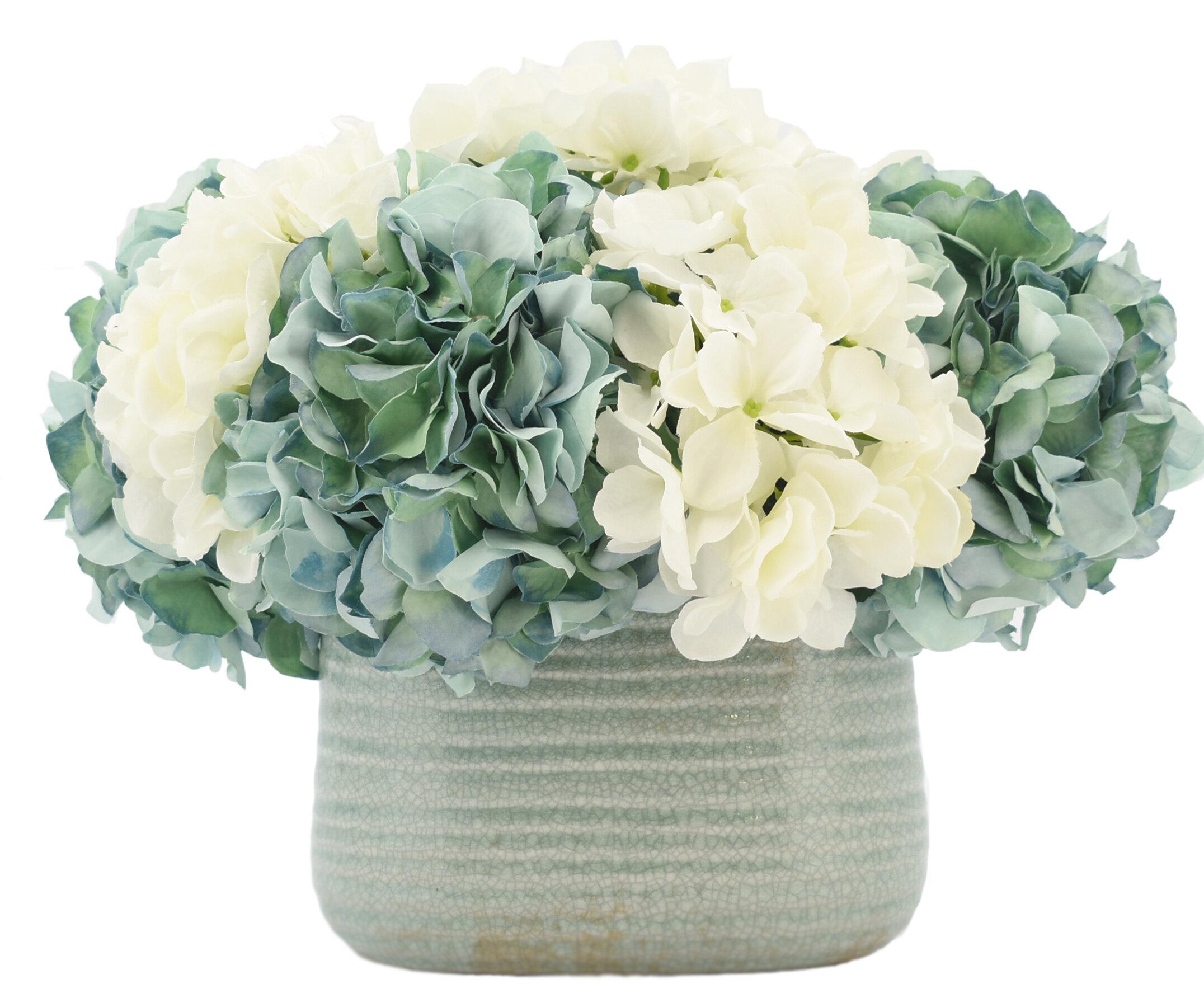 Creative Displays Inc Hydrangea Floral Arrangement In Pot Perigold