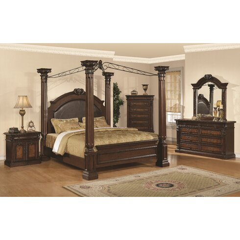 Astoria Grand Payne Canopy Configurable Bedroom Set | Wayfair