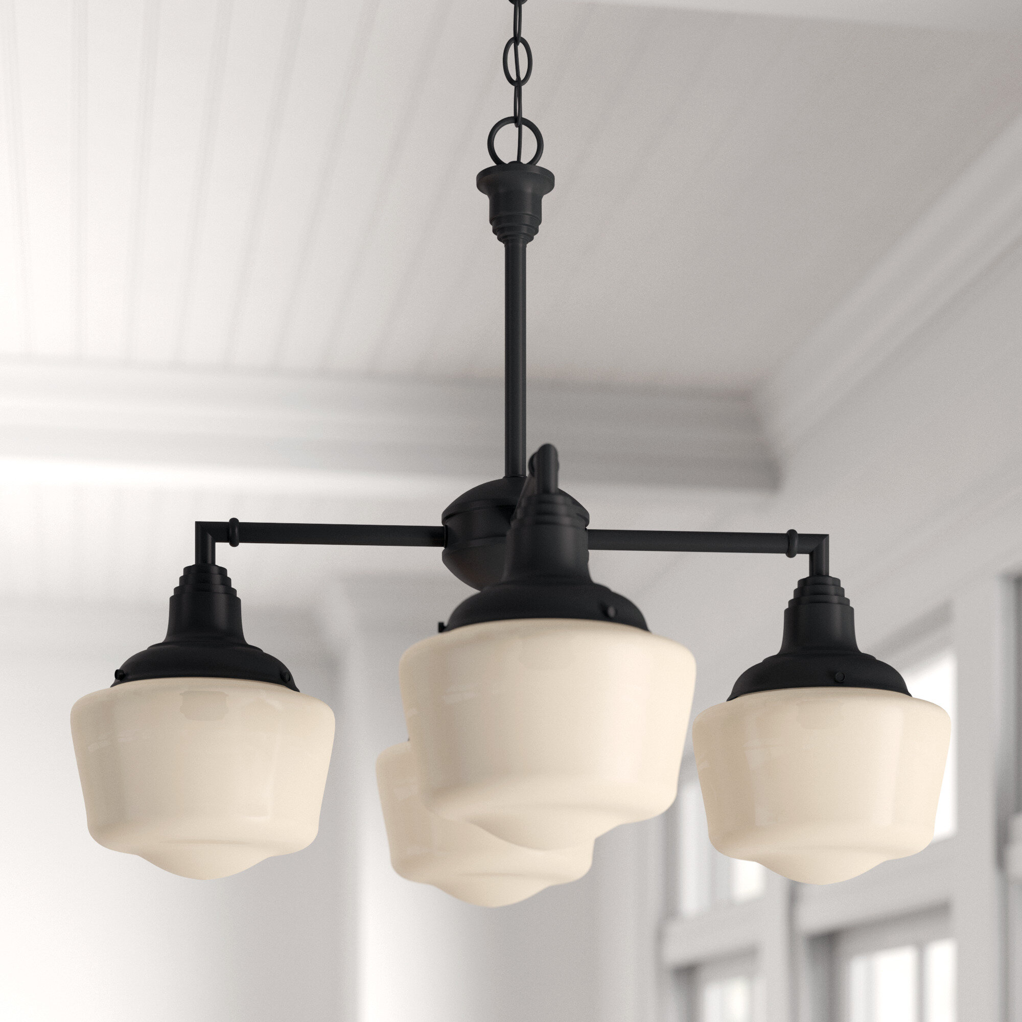 Three Posts Englehart 4 Light Shaded Classic Traditional Chandelier Reviews Wayfair