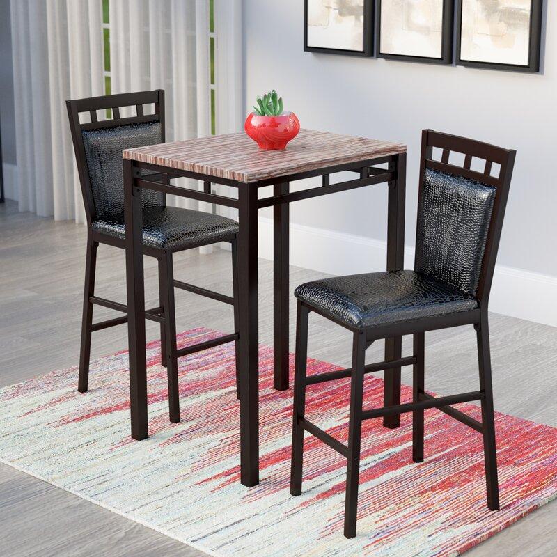 Perfect Eric 3 Piece Pub Table Set