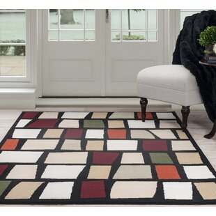 Bargain Blocks Black/Beige Area Rug By Plymouth Home