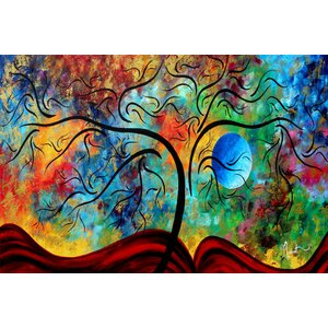 'Blue Moon Rising' by Megan Duncanson Painting Print on Wrapped Canvas by East Urban Home
