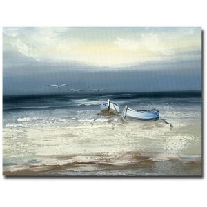 Low Tide Painting Print on Canvas by Trademark Fine Art