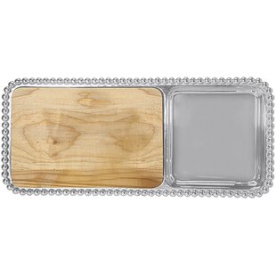 String of Pearls Cheese and Cracker Serving Tray By Mariposa