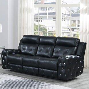Leffler Jewel Embellished Power Reclining Sofa