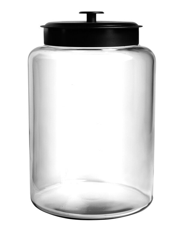 Glass Montana Kitchen Canister with Black Lid #canister #kitchen #fixerupper