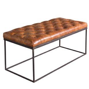 Ann Kathrin Leather Bench