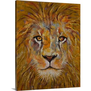Lion Portrait by Michael Creese Painting Print on Canvas by Canvas On Demand