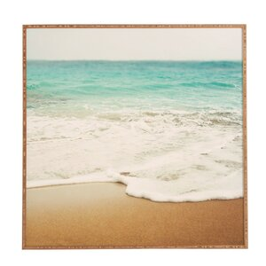 'Ombre Beach' Framed Photographic Print by East Urban Home