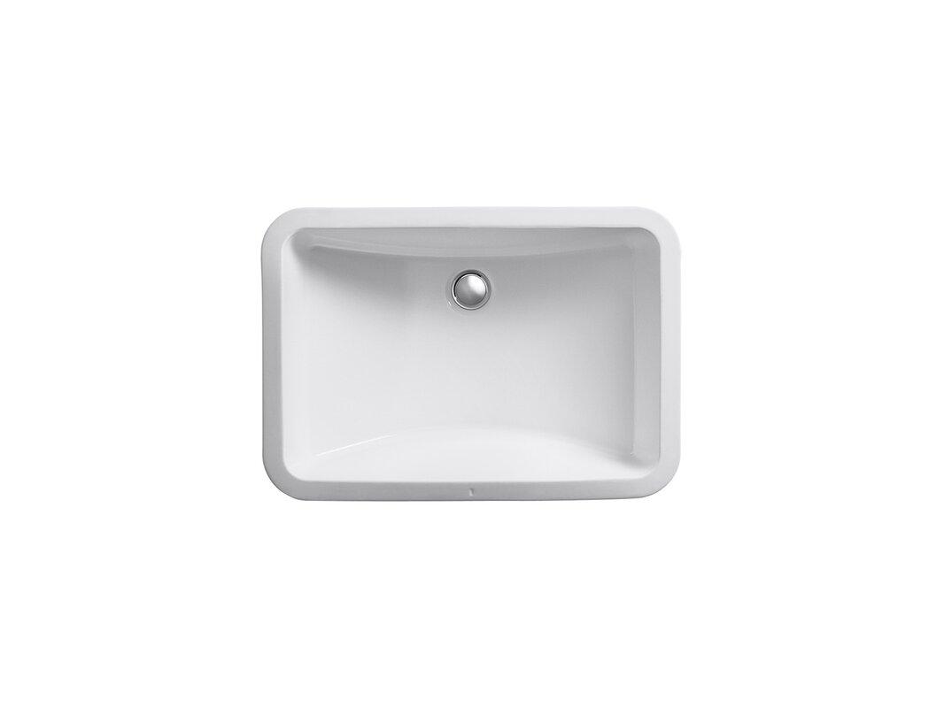 Ladena Ceramic Rectangular Undermount Bathroom Sink Reviews Allmodern