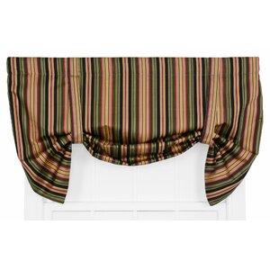 Xenia Medium Scale Stripe Print Lined Tie-Up Curtain Valance