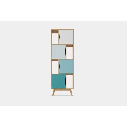 Bücherregal Ryleigh Isabelline Farbe: Eiche/Blau | Wohnzimmer > Regale | Isabelline