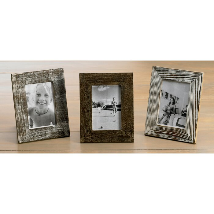 3 piece distressed wood picture frame set - Wood Picture Frame Set