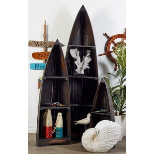 Review 3 Piece Wood Boat Accent Shelves Set by Cole & Grey