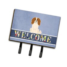 Cavalier Spaniel Welcome Leash or Key Holder by Caroline's Treasures