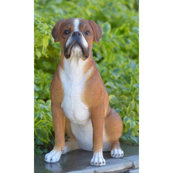 Gift Ltd Sitting Boxer Dog Statue
