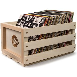 Record Storage Solid Wood Crate  sc 1 st  AllModern & Modern u0026 Contemporary Vinyl Record Storage Shelf | AllModern