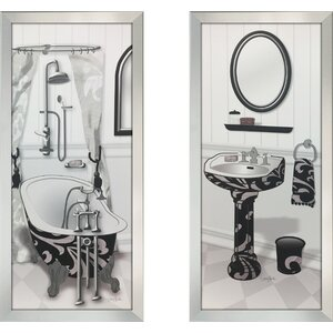 'Venetian Tub' 2 Piece Framed Print Set by Ivy Bronx
