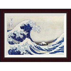 The Great Wave of Kanagawa by Hokusai Framed Painting Print by Global Gallery