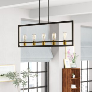 Theophania 5 Light Square Rectangle Chandelier