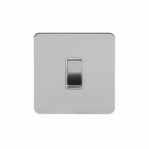 Wandmontierter Lichtschalter Weatherford ClearAmbient Farbe: Gebürstetes Chrom/Weiß | Baumarkt > Elektroinstallation > Lichtschalter | ClearAmbient