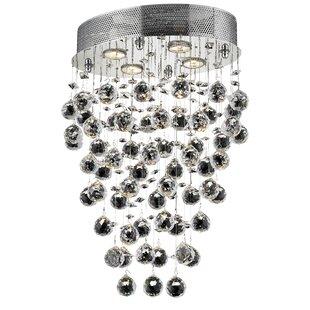 Flush mount mini chandelier wayfair deidamia 4 light flush mount mozeypictures Choice Image