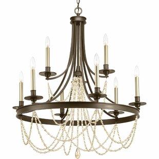 Extra large foyer chandelier wayfair genevieve 9 light chandelier aloadofball Image collections