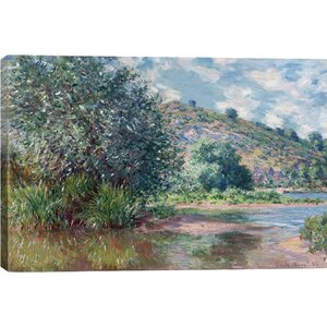 'Paysage a Port-Villez 1885' by Claude Monet Painting Print on Canvas by Ophelia & Co.