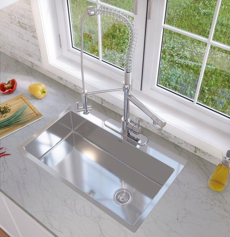 Tile In Kitchen Sink Ancona valencia series 329 x 22 single bowl drop in kitchen sink valencia series 329 x 22 single bowl drop in kitchen sink workwithnaturefo