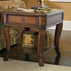 Brookhaven End Table with Storage By Hooker Furniture