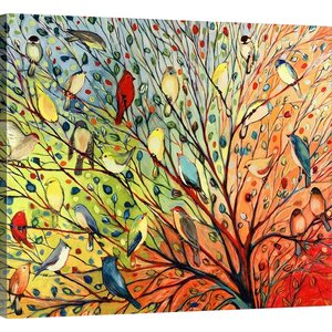 Twenty Seven Birds' by Jennifer Lommers Framed Graphic Art Print on Canvas by Red Barrel Studio